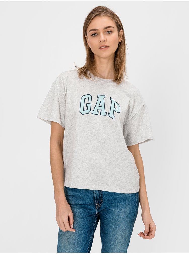Šedé dámske tričko GAP Logo