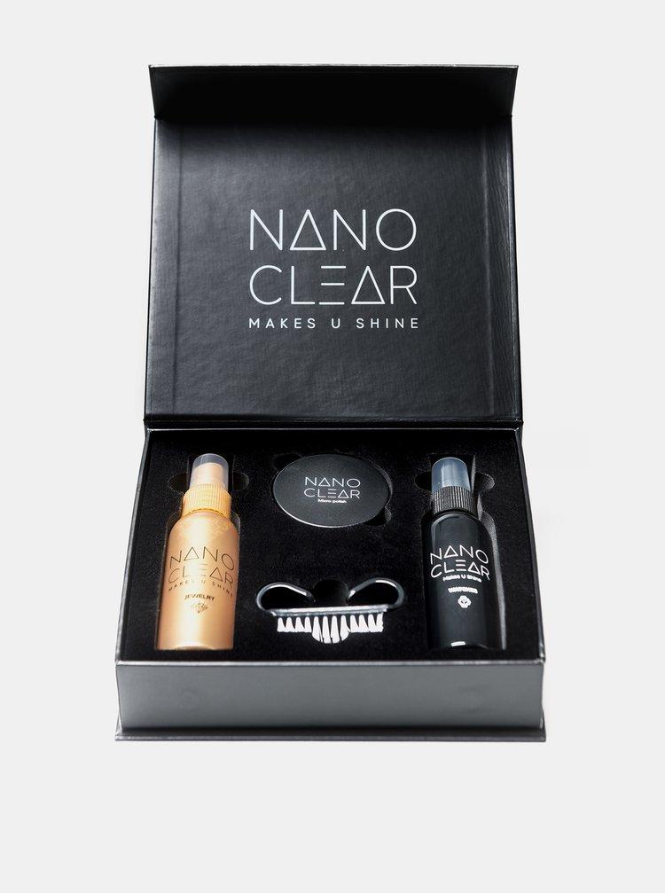 Sada čisticích prostředků a leštidla na hodinky a šperky NANO CLEAR 60/60/30 ml