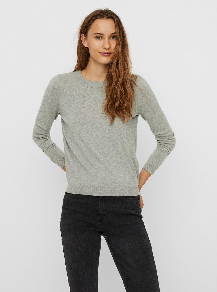 Šedý ľahký sveter VERO MODA