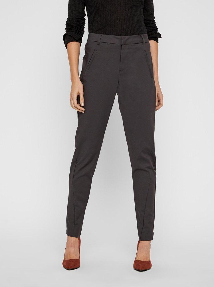Tmavě šedé kalhoty VERO MODA