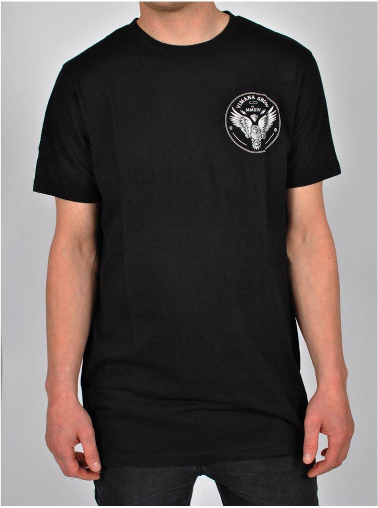 Vimana VUFO black pánské triko s krátkým rukávem - černá