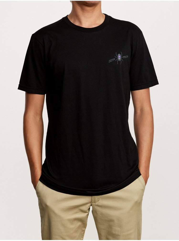 RVCA SMITH STREET black pánské triko s krátkým rukávem - černá