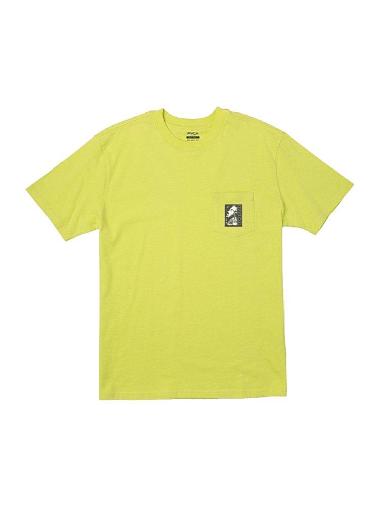 RVCA MONOLITH LIMEADE pánské triko s krátkým rukávem - zelená