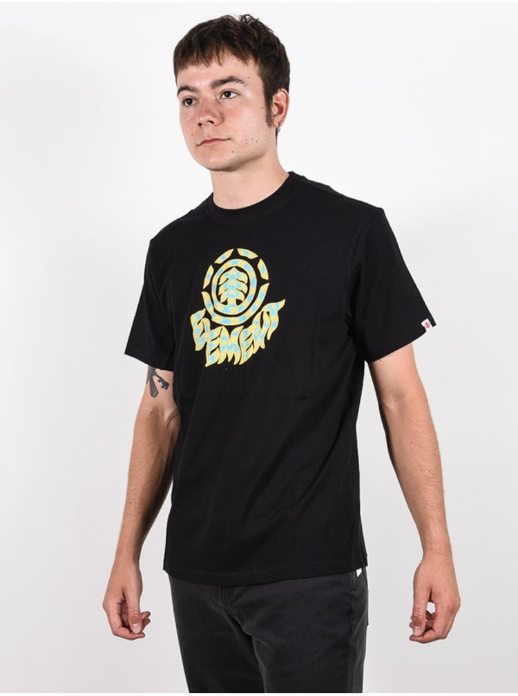 Element REMUS FLINT BLACK pánské triko s krátkým rukávem - černá