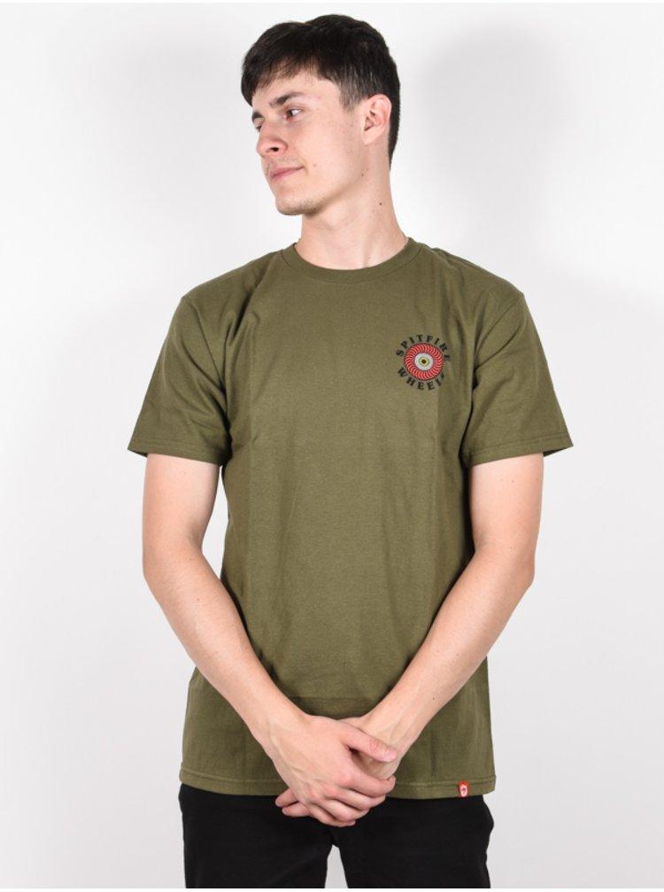 Spitfire OG CLASSIC FILL M.GRN/RED pánské triko s krátkým rukávem - zelená