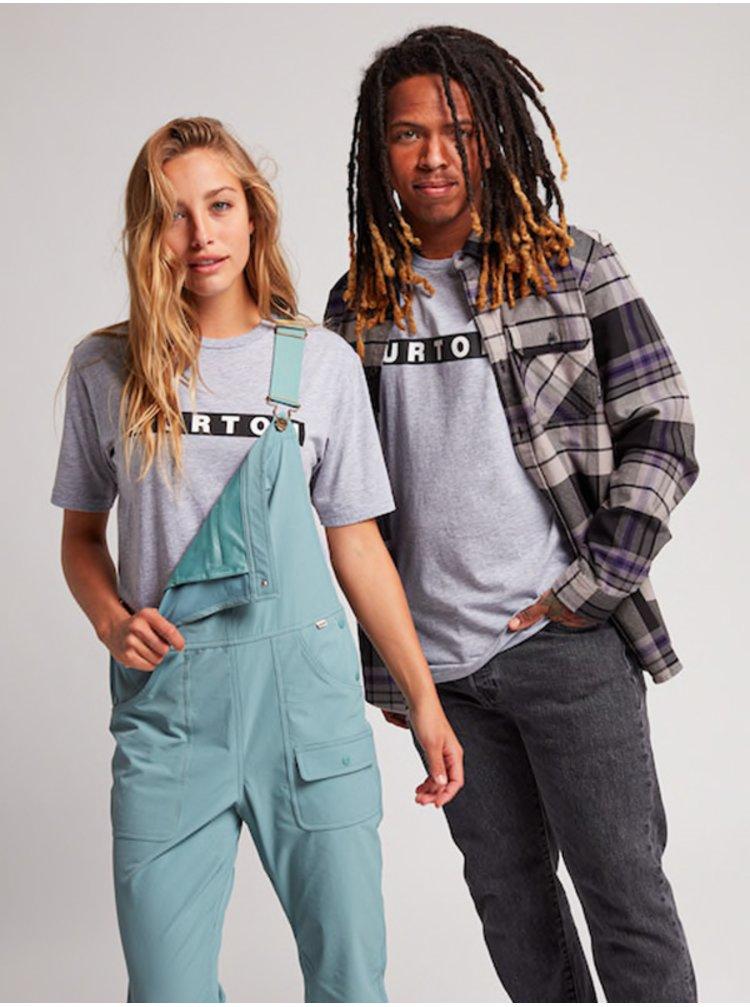 Burton VAULT Gray Heather pánské triko s krátkým rukávem - šedá