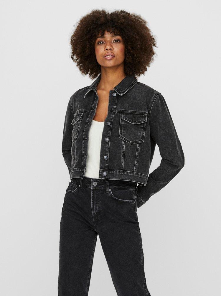 Černá krátká džínová bunda VERO MODA