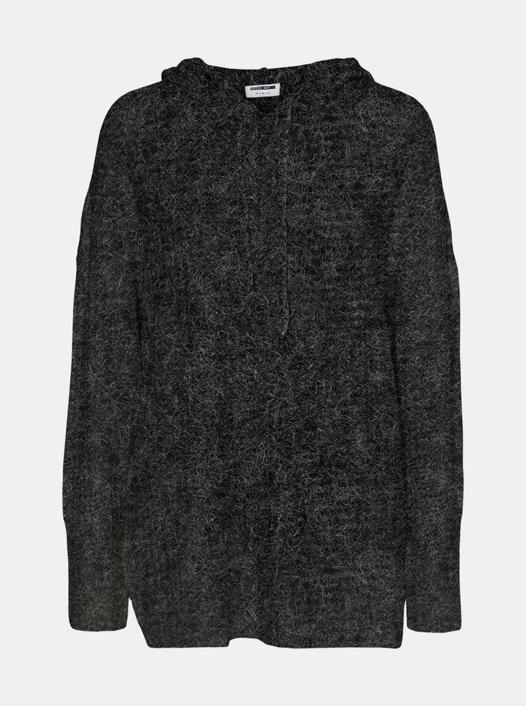 Šedý sveter s kapucou Noisy May Ally