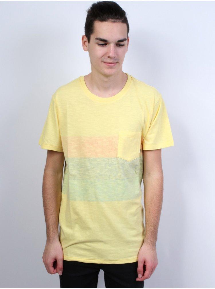 Billabong MOMENTUM  sun pánské triko s krátkým rukávem - žlutá