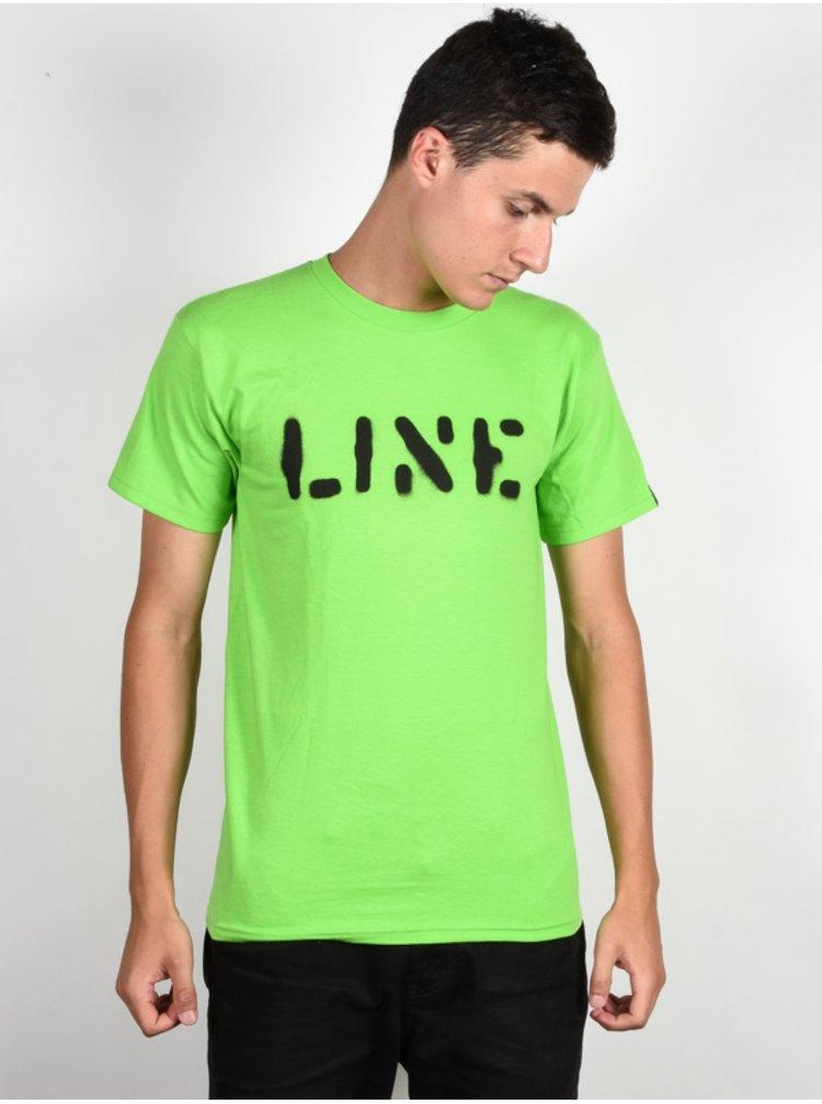 Line Stencil NEON YELLOW pánské triko s krátkým rukávem - žlutá