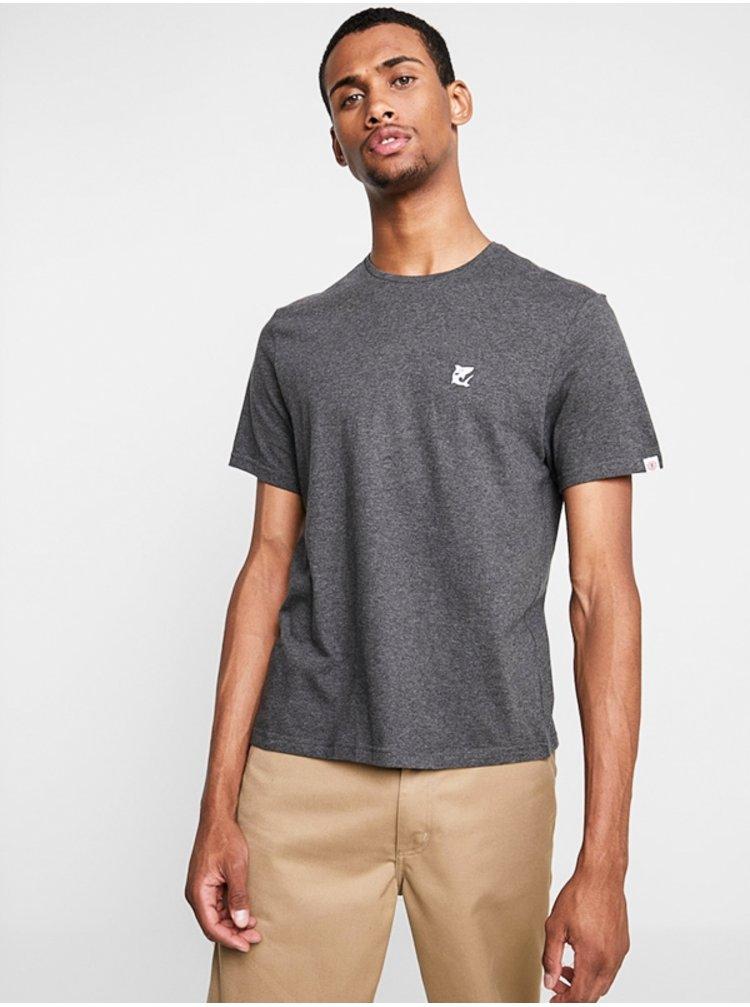 Element CURRENT CHARCOAL HEATHE pánské triko s krátkým rukávem - šedá