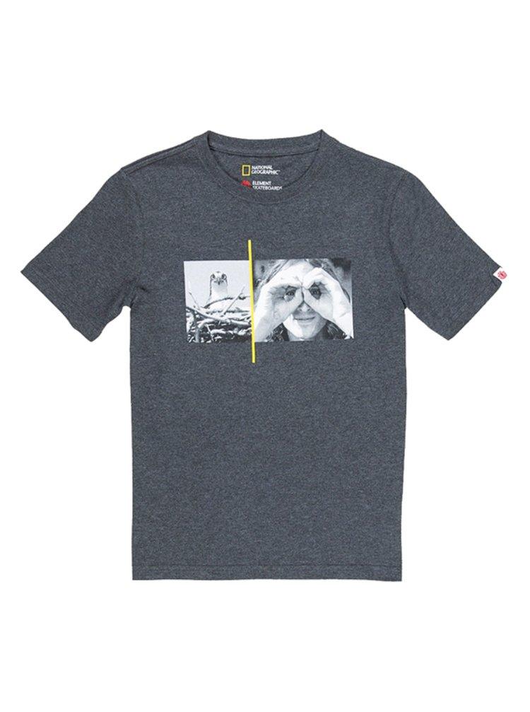 Element HAWK SMITH CHARCOAL HEATHE pánské triko s krátkým rukávem - šedá
