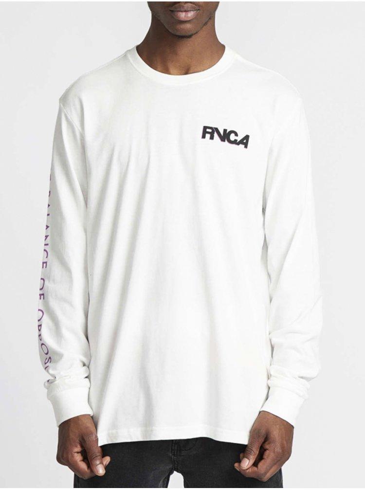 RVCA SCREAMING BAT ANTIQUE WHITE pánské triko s dlouhým rukávem - bílá