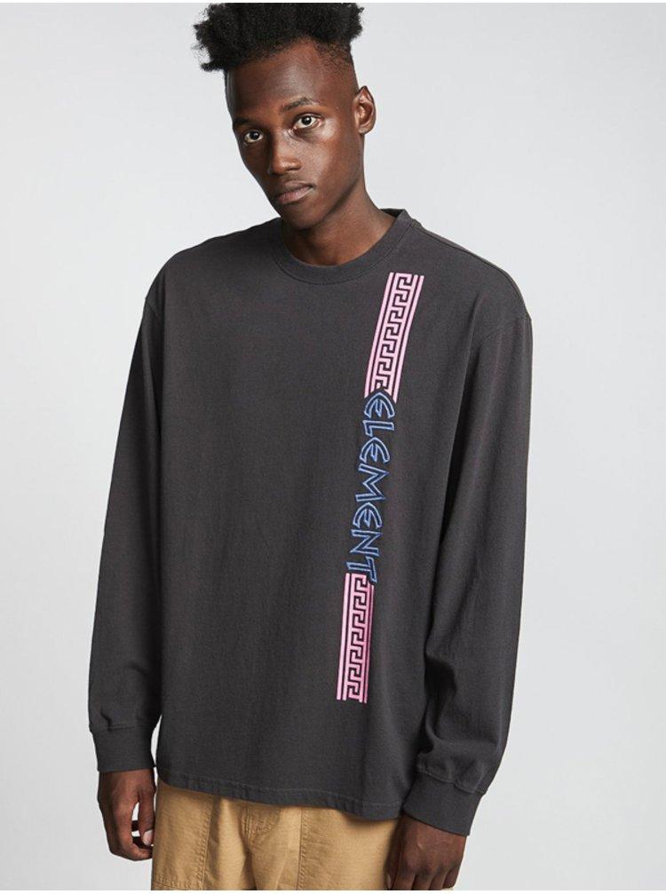 Element NO PAIN BOX OFF BLACK pánské triko s dlouhým rukávem - černá