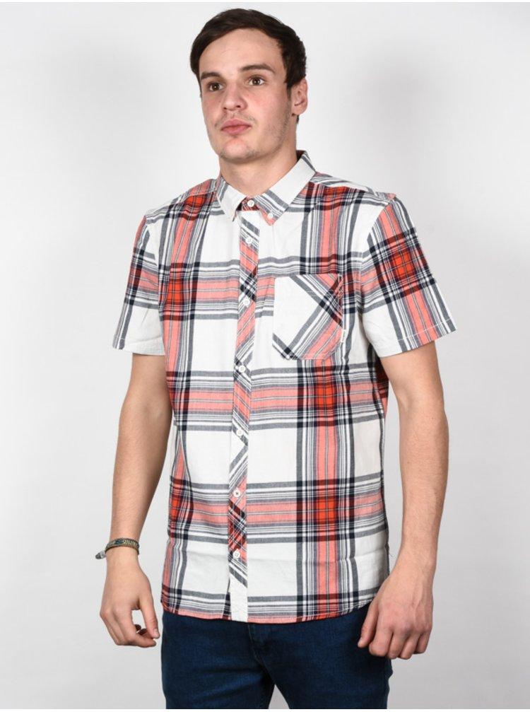 Element BUFFALO BONE WHITE košile pro muže krátký rukáv - bílá