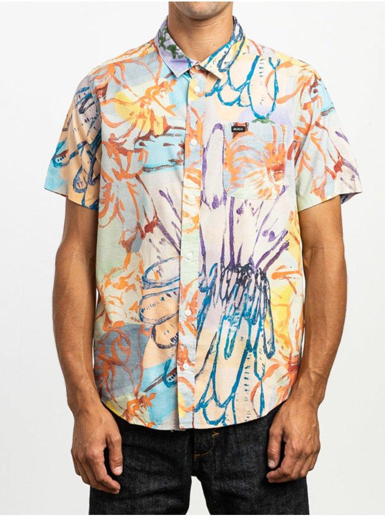 RVCA VAUGHN FLORAL MULTI košile pro muže krátký rukáv - barevné