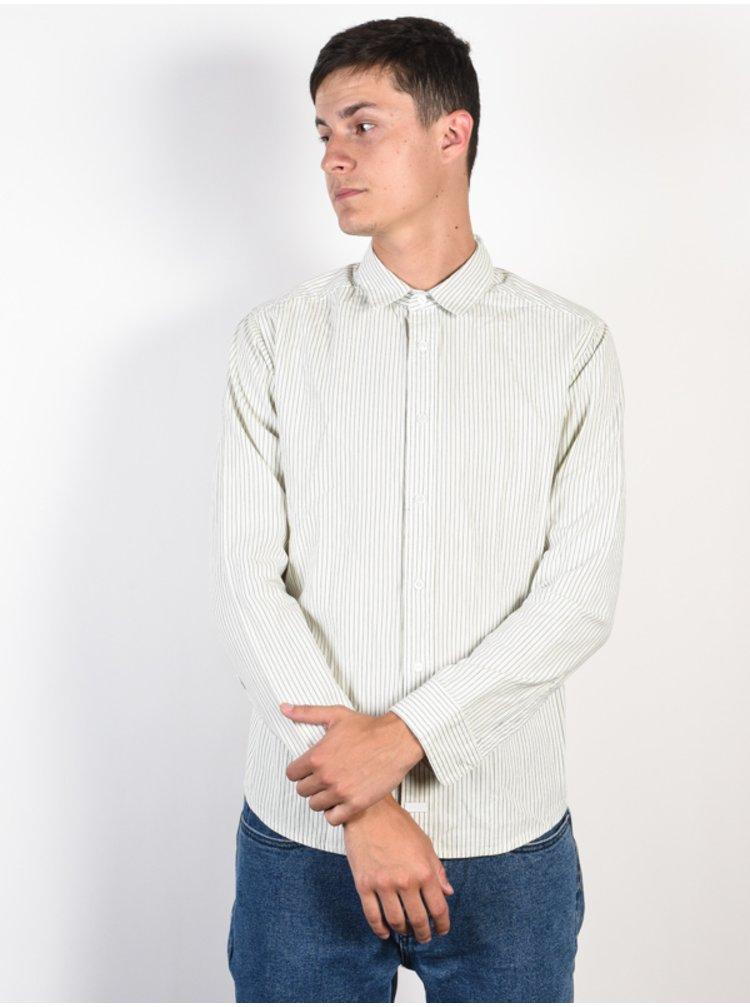 RVCA HI GRADE SILVER BLEACH pánské košile s dlouhým rukávem - bílá
