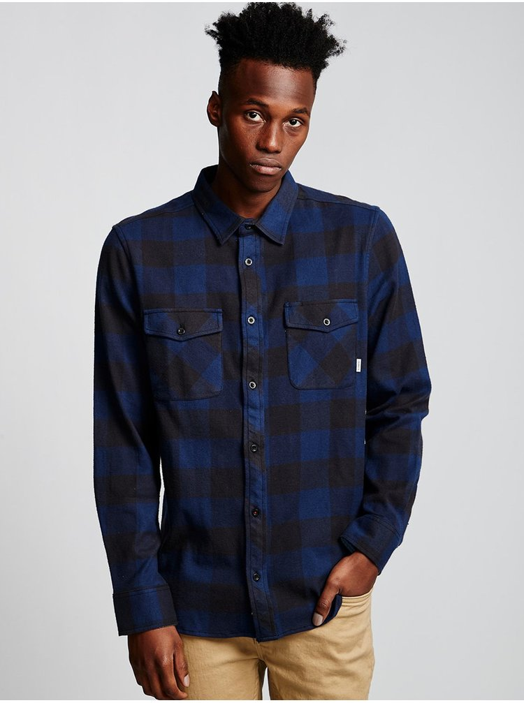 Element TACOMA indigo pánské košile s dlouhým rukávem - černá