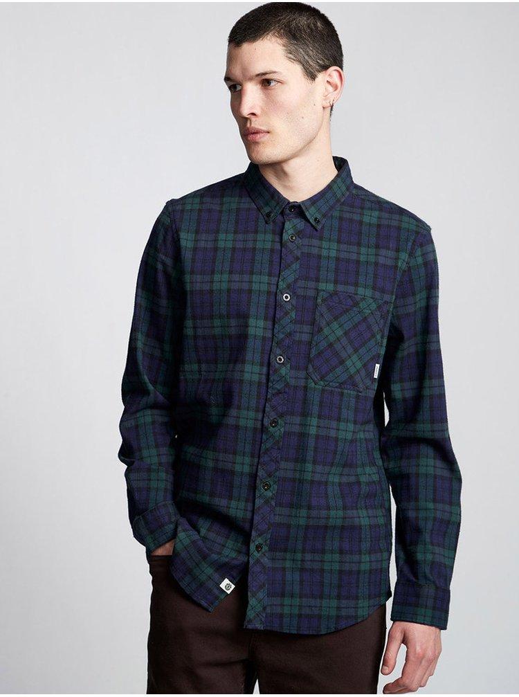 Element LUMBER CLASSIC DARK SPRUCE pánské košile s dlouhým rukávem - černá