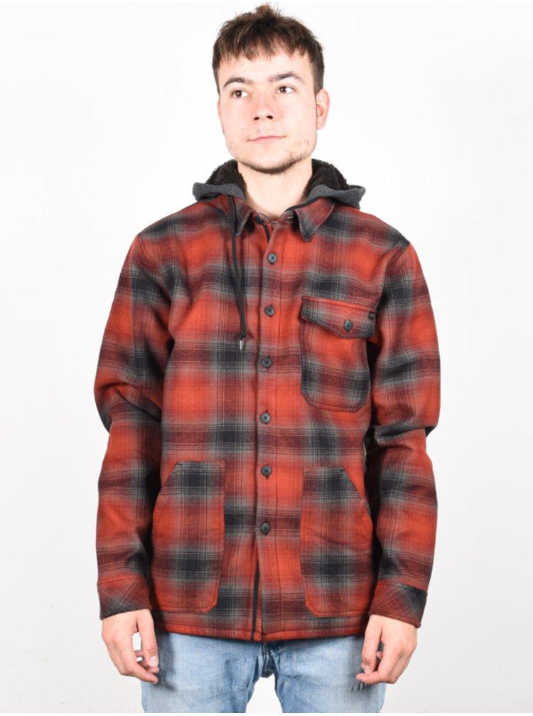 Billabong FURNACE BONDED RED pánské košile s dlouhým rukávem - černá