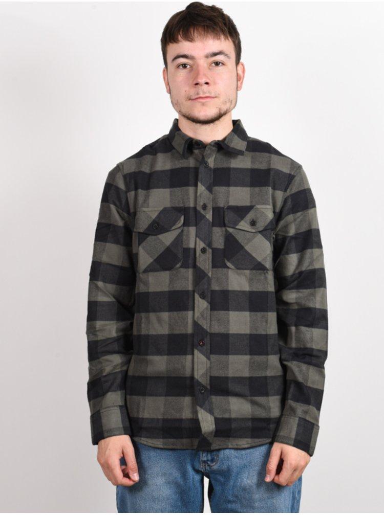 Element TACOMA ARMY pánské košile s dlouhým rukávem - černá