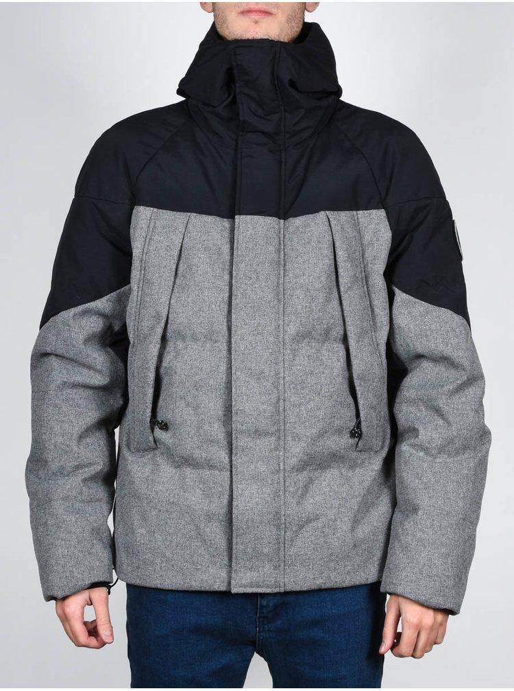 Element BLACK SKY PUFFA CHARCOAL HEATHER zimní pánská bunda - šedá