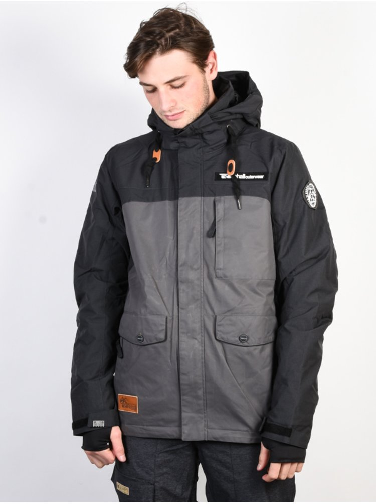 Rehall TYLER Dobby Black zimní pánská bunda - šedá