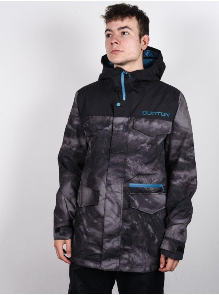 Burton COVERT LOWPSI/TRUBLK zimní pánská bunda - šedá