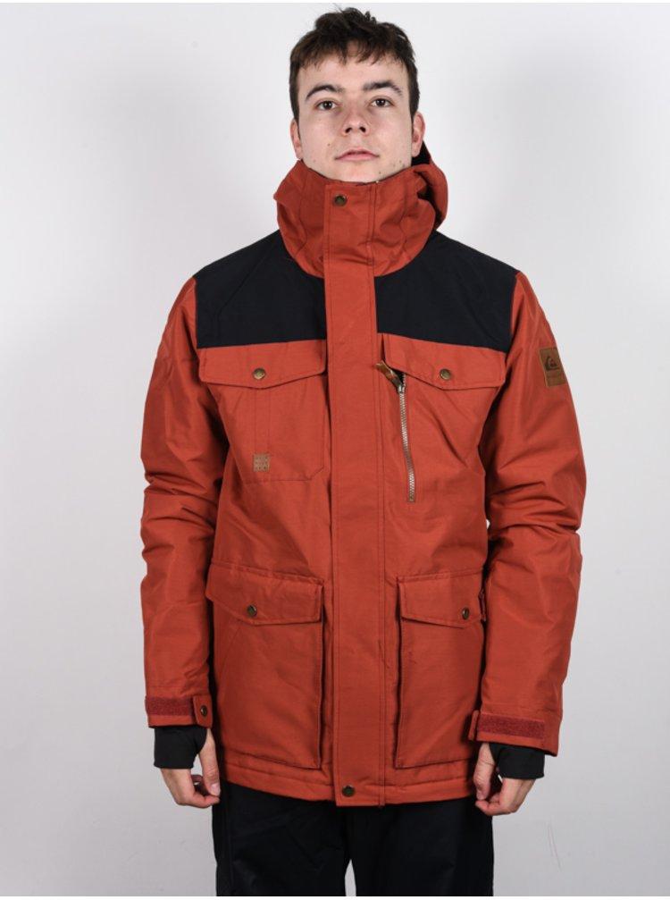 Quiksilver RAFT BARN RED zimní pánská bunda - červená