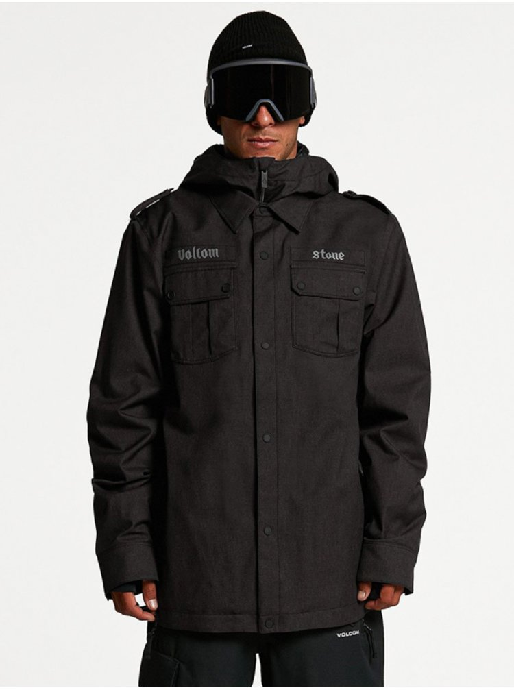 Volcom Creedle2Stone black zimní pánská bunda - černá