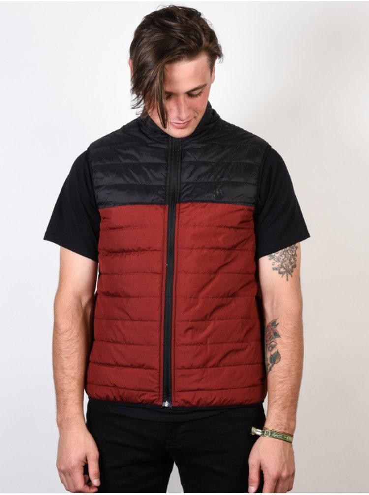 Element PUFF VEST SYRAH HEATHER podzimní bunda pro muže - červená