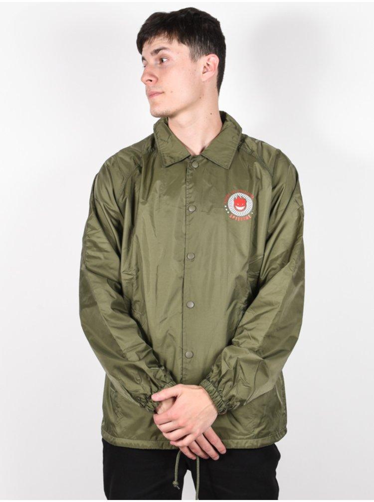 Spitfire KTUL ARMY GRN/RED/WHT podzimní bunda pro muže - zelená