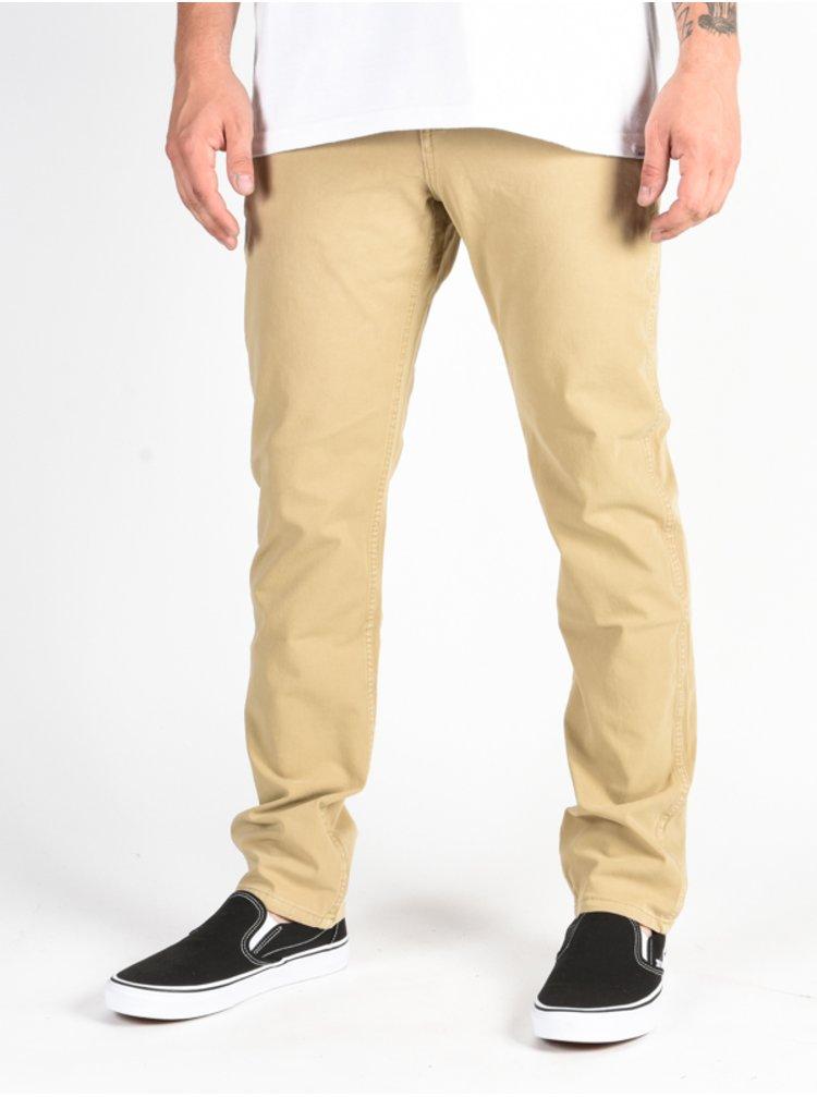 Quiksilver Krandy PLAGE plátěné kalhoty pánské - béžová