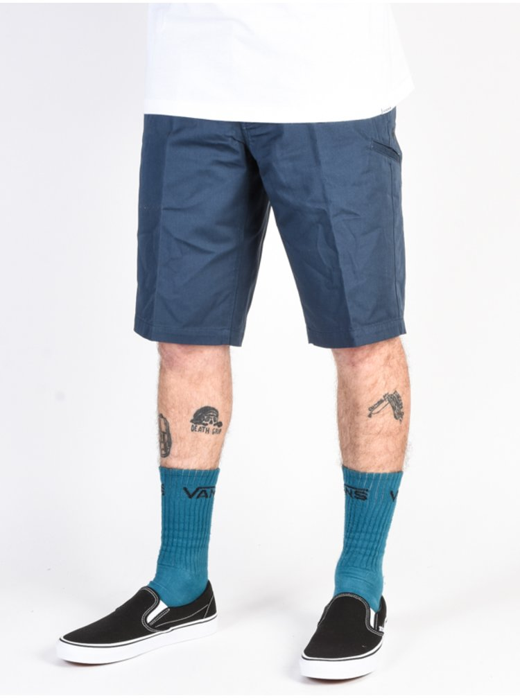 Fox Essex NAVY plátěné kraťasy pánské - modrá