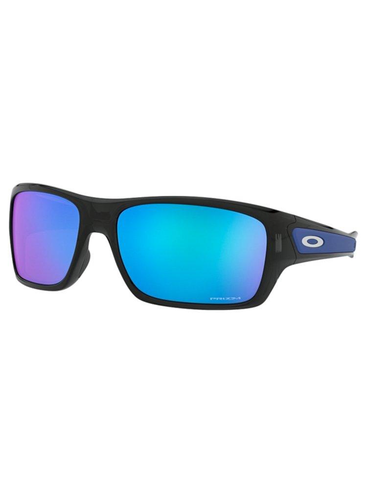 Oakley Turbine Black Ink w/ PRIZM Sapph sluneční brýle pilotky - černá