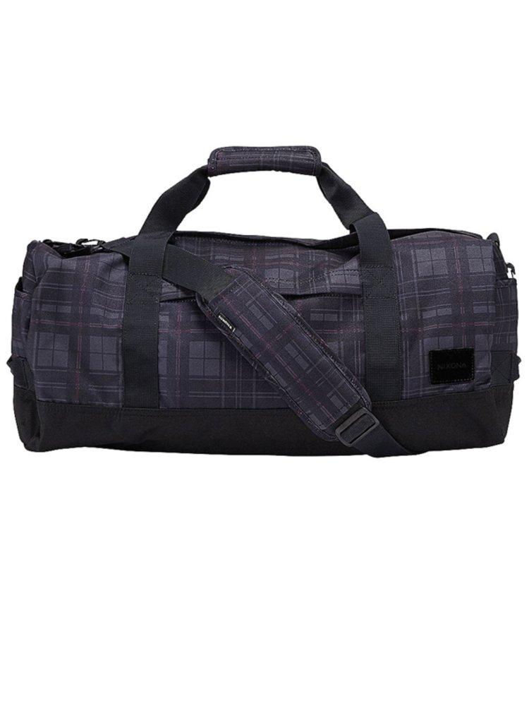 Nixon PIPES DUFFLE DARKGRAY cestovní taška - černá