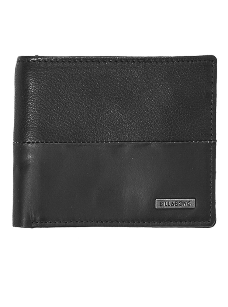 Billabong FIFTY50 ID LEATHER black pánská značková peněženka - černá