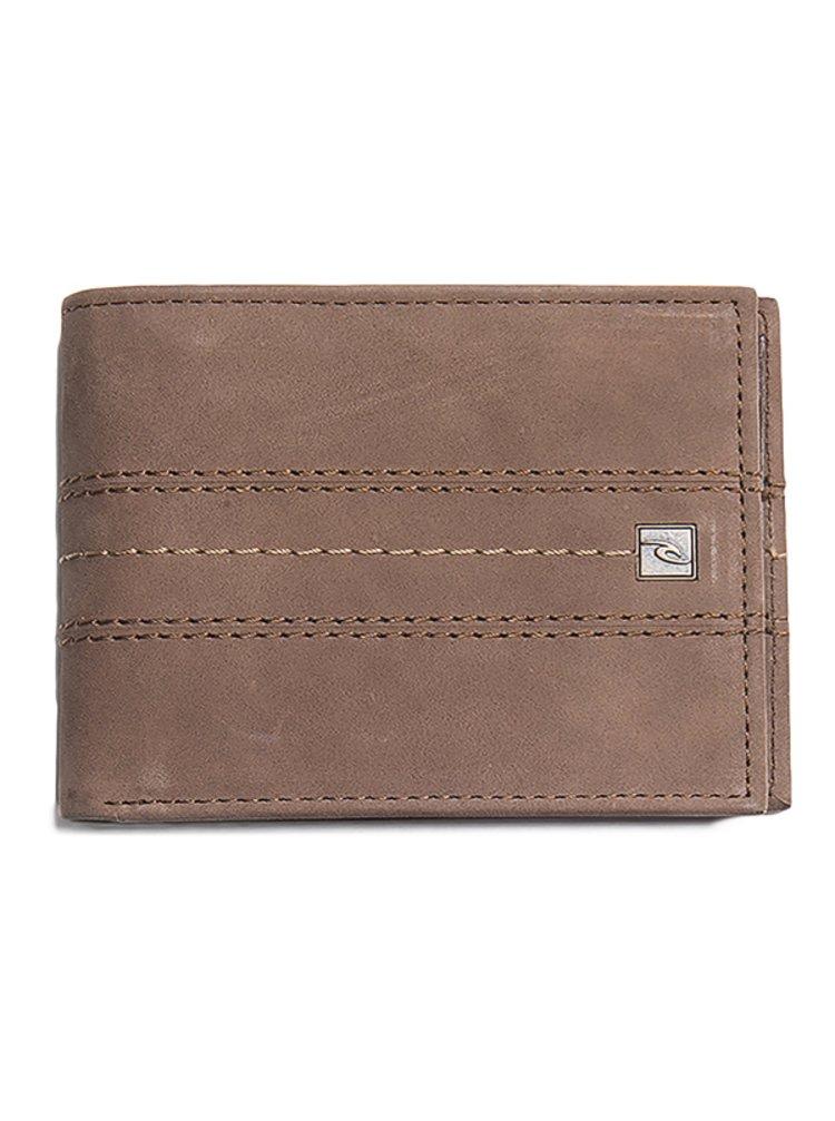 Rip Curl STITCH ICON RFID 2 I brown pánská značková peněženka - hnědá