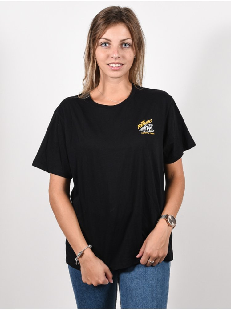 Element B-SIDE WO black dámské triko s krátkým rukávem - černá