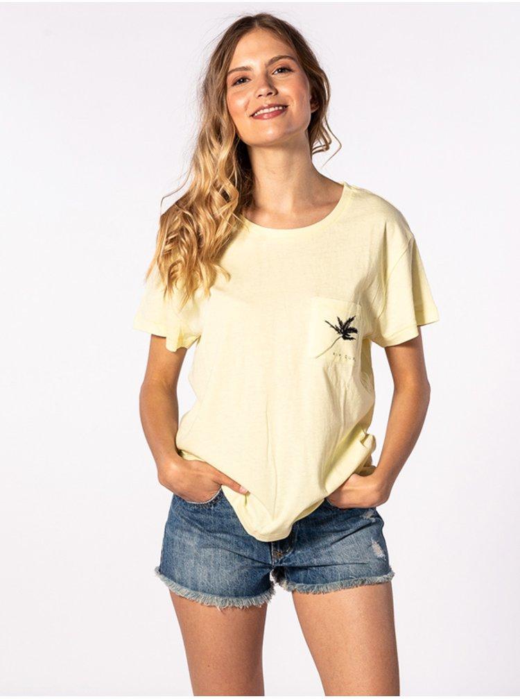 Rip Curl MINIMALIST WAVE WAX YELLOW dámské triko s krátkým rukávem - žlutá