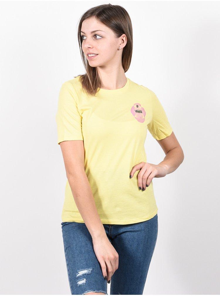 Element MODERN POPCORN dámské triko s krátkým rukávem - žlutá