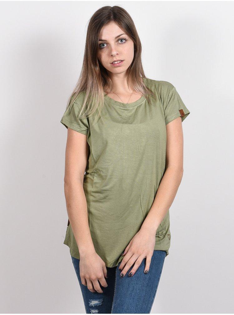 Alife and Kickin MIMMYAK DUST dámské triko s krátkým rukávem - zelená