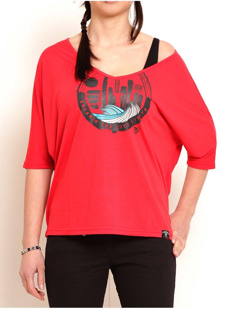 Vehicle BREAKPOINT RED dámské triko s krátkým rukávem - červená