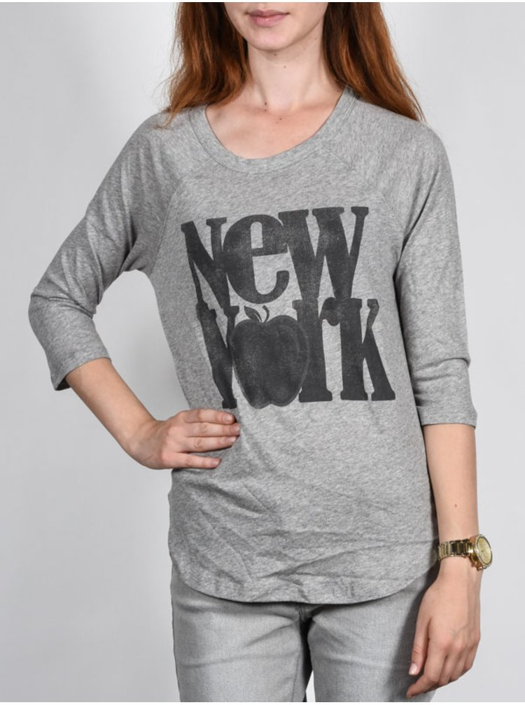 Element BIG APPLE grey heather dámské triko s dlouhým rukávem - šedá