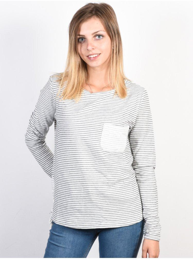 Roxy SLICE OF HEAVEN Marshmallow dámské triko s dlouhým rukávem - šedá