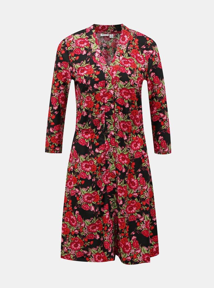 Červené květované šaty Noisy May