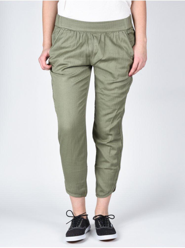 RVCA DAYDREAM SMOKE GREEN plátěné kalhoty dámské - zelená