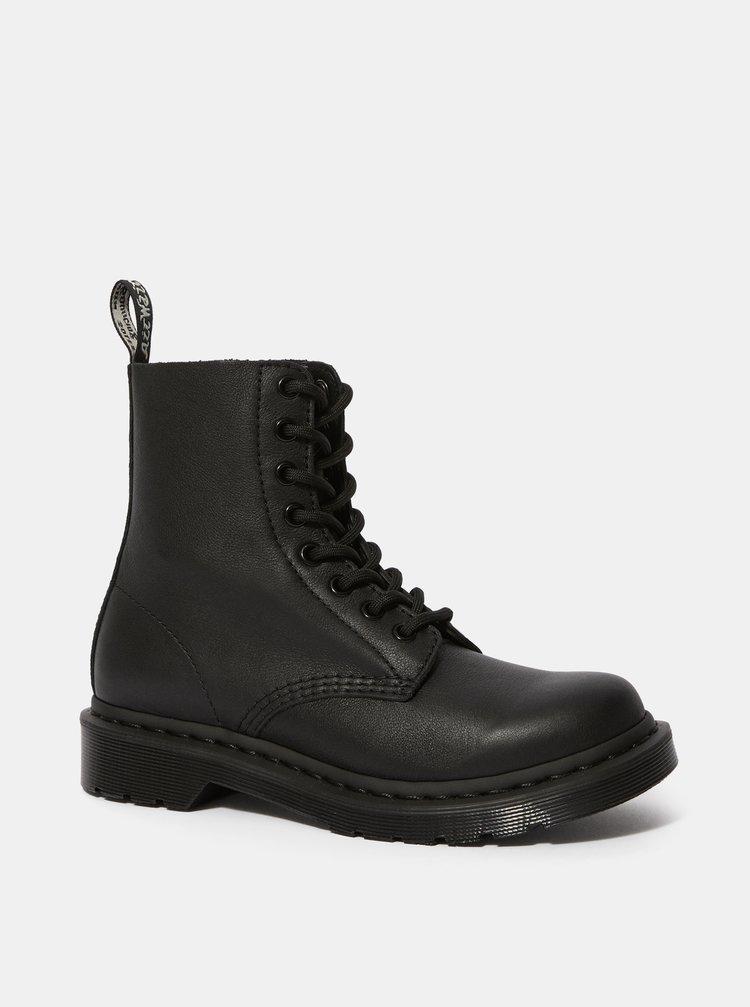 Černé dámské kožené kotníkové boty Dr. Martens 1460 Pascal Mono