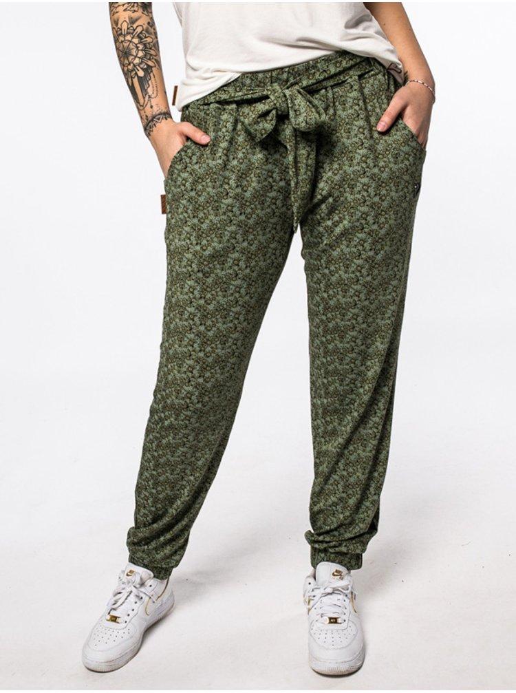 Alife and Kickin ALICEAK DUST plátěné kalhoty dámské - zelená