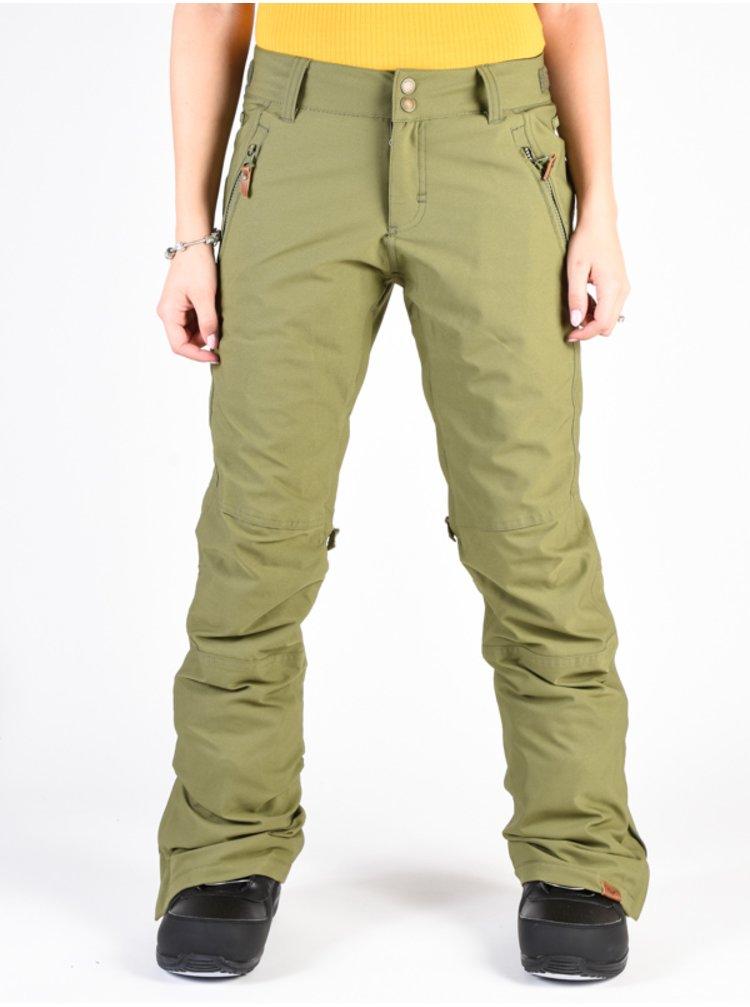Roxy CABIN FOUR LEAF CLOVER dámské zimní kalhoty - zelená